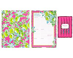 lilly pulitzer 3 item office assortment pen