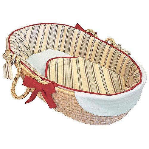 Hoohobbers Tailored Moses Basket, Tailored, Stellar Stripes - 1