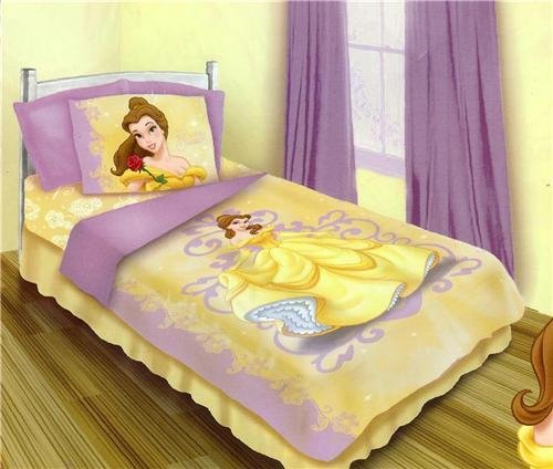 Beauty and the beast belle 4 piece twin bedding set twin bedding