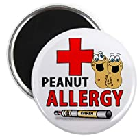 PEANUT ALLERGY EPIPEN Medical Alert 2.25 inch Fridge Magnet by Creative Clam