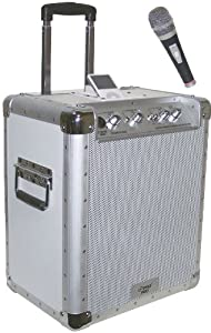 Pyle PCMX240I Battery Powered Portable PA System with Ipod Docking Station
