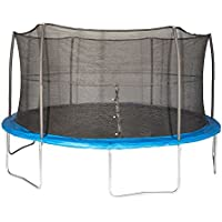 JumpKing 8' Foot ft. Outdoor Trampoline and Safety Net Enclosure Combo (Blue)