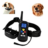 Woowo Wasserdicht Rechargeable Wireless Pet Erziehungshalsband mit Funksender 330 Yards