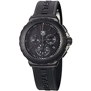 TAG Heuer Men's CAU1114.FT6024 Formula 1 Black Dial Black Strap Chronograph Watch