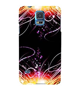 printtech Pattern Streaks Light Disco Back Case Cover for Samsung Galaxy S5 G900i::Samsung Galaxy S5 i9600::Samsung Galaxy S5 G900F