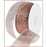 Metallic Poly Deco Mesh Ribbon (2.5