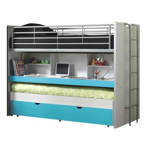 Vipack Lit mezzanine Bonny 80 - turquoise