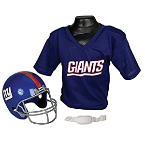 Franklin Sports NFL New York Giants Replica Youth Helmet and Jersey Set