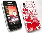 FLASH SUPERSTORE VALUE PACK FOR SAMSUNG S5230 TOCCO LITE LCD SCREEN PROTECTOR + COMPATIBLE CAR CHARGER + RED HEARTS SUPER SLIM CLIP ON PROTECTION CASE/COVER/SKIN