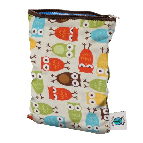 Planet Wise Wet Diaper Bag, Owl, Small (Wet Bag Travel compare prices)