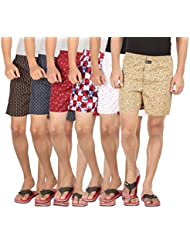Joven Assorted Printed Cotton Boxer Pack Of 6