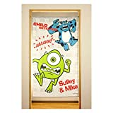 Disney Monsters Inc Noren Curtain Tapestry Made in Japan