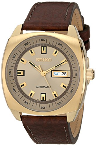 Seiko Men'S Snkn02 Analog Display Japanese Quartz Brown Watch