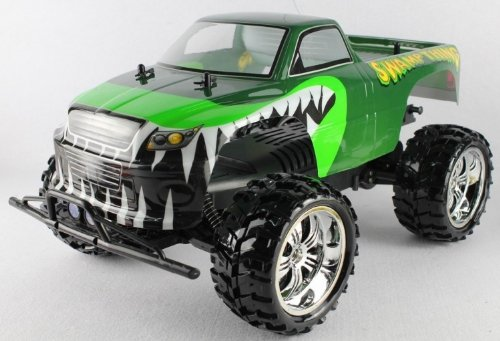 Radio Control SWAMP THING 1:10 Scale 9.6v licensed monster truck complete kit with all batteries and charger FF+RTR