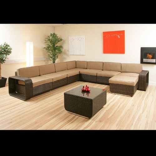 Massive rattan sofa corner group set indoor outdoor 140
