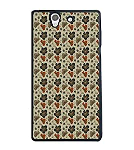 Fuson Premium Hibiscus Flowers Metal Printed with Hard Plastic Back Case Cover for Sony Xperia Z