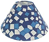 "10"" Round Blue Checks Designer Lamp Shade for Table Lamp"