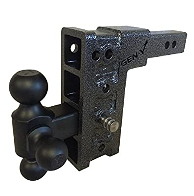 """GenY 314,Drop Hitch Tri-Ball Combo,Dual Hitch Receiver,Adjustable 2"""" Solid,Dual Receiver Hitch,drop/raise 7.5"""" W/ Tri-ball"""