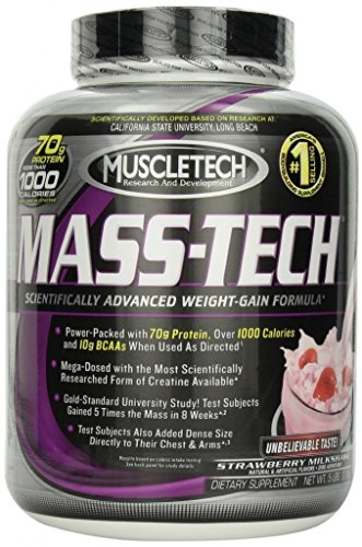 MuscleTech Muscletech Mass Tech Powder - Strawberry Milkshake, 5-pound