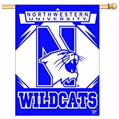 Buy NCAA Northwestern Wildcats 27-by-37 inch Vertical Flag by WinCraft