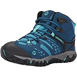 Merrell Women's All Out Blaze Ventilator Mid Waterproof Hiking Boot, Turquoise/Aqua