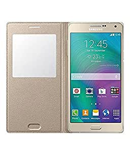 Flip Cover For Samsung Galaxy A7-Gold With Free Key Ring