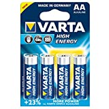 Varta 4906121414 - Batterie LR6 Mignon AA 1.5V High Energy 4er-Packung