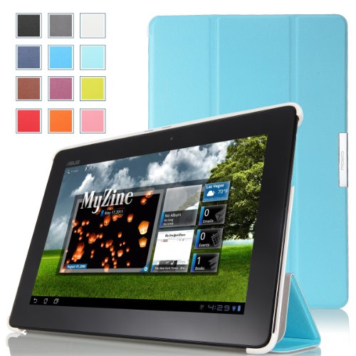 MoKo Ultra Slim Lightweight Smart-shell Stand Case for ASUS MeMo Pad Smart ME301 / ME301T 10.1 inch Android 4.1 Jelly Bean tablet, Light BLUE
