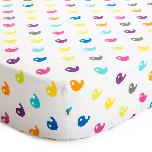 Baby Deedee Fitted Crib Sheet, Rainbow
