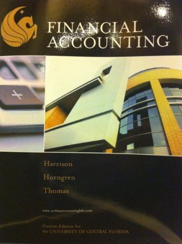 Financial Accounting (Custom Edition For the University of Florida)