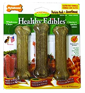 Nylabone Healthy Edibles Regular Variety Pack, 3-Count