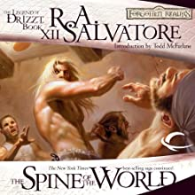 The Spine of the World: Legend of Drizzt: Paths of Darkness, Book 2 (       UNABRIDGED) by R. A. Salvatore Narrated by Victor Bevine
