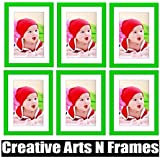 Creative Arts N Frames Green Photo Frame With White Mat Set Of 6 / Wall Hanging/ Table Photo Frame ( Photo Size...
