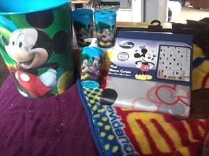 Disney mickey mouse clubhouse 4 pc bath set bathroom accessory sets - Mickey mouse bathroom accessory set ...