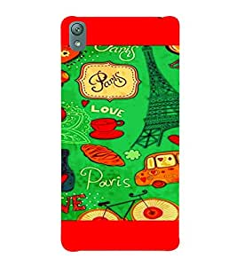 PrintVisa Romantic Love Paris 3D Hard Polycarbonate Designer Back Case Cover for Sony Xperia E5