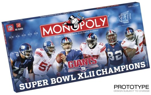 Buy New York Giants Superbowl Champions Monopoly Game 2007