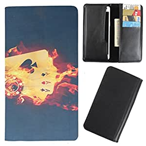 DooDa - For iBall Andi Mini Uddaan PU Leather Designer Fashionable Fancy Case Cover Pouch With Card & Cash Slots & Smooth Inner Velvet