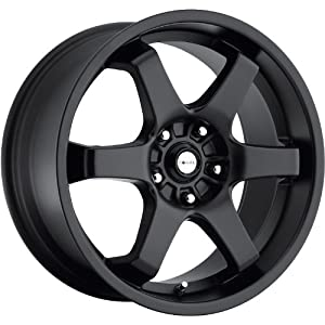 Focal X 16 Black Wheel / Rim 5×4.5 with a 48mm Offset and a 73 Hub Bore. Partnumber 421-6719B+48
