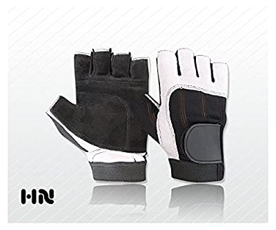 Fitness Gym Leather Gloves (034) Weight lifting Training Cycling All Sports by Kango Fitness