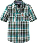 U.S. Polo Assn. Boys 2-7 Roll-Up Woven