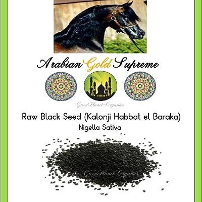 Arabian Gold Black Seeds Raw Nigella Sativa (Non GMO) 12 oz from GreenPlanet-Organics
