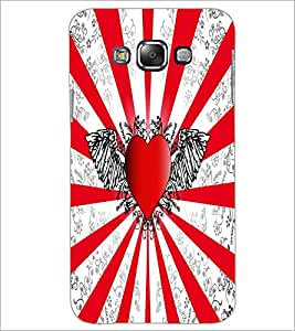 Printdhaba Heart D-5509 Back Case Cover For Samsung Galaxy E7