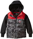 Weatherproof Big Boys' Bubble Vest with Attached Jersey Hoodie and Sleeves