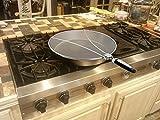 Philonext Edelstahl-Spritzer-Schirm-Schutz Mit Silikon-Klappgriff Anzug für viele Töpfe & Pfannen Praktische Küchen Bratpfanne Öl Proofing Deckel  -