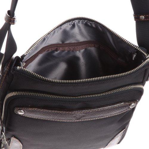 [ウルティマ トウキョウ] ultima tokyo varietas ベルナルド ショルダーバッグ(ソフトパイル生地ポケット・パスケース付き) 28806 01 (ブラック)