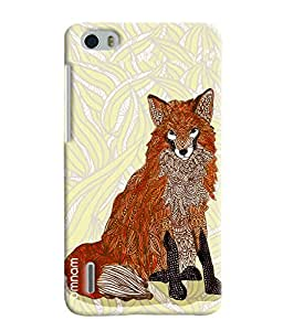 Omnam Wolf Made Of Art Printed Designer Back Cover Case For Huawei Honor 6