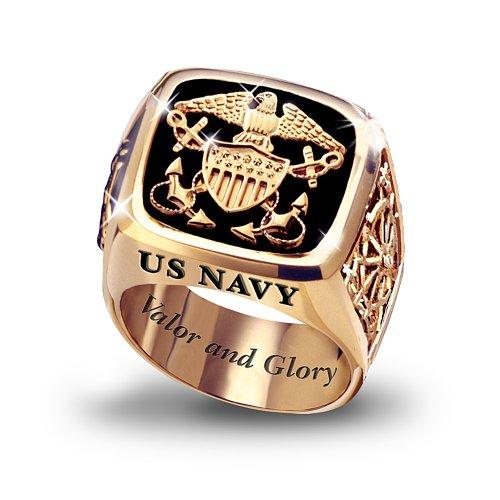 U.S. Navy Men's Ring by The Bradford Exchange