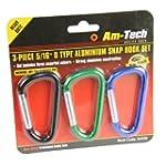 Am-Tech Snap Hook Set (3 Pieces)