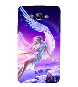 printtech Girl Angel Fairy Back Case Cover for Samsung Galaxy J7 / Samsung Galaxy J7 J700F