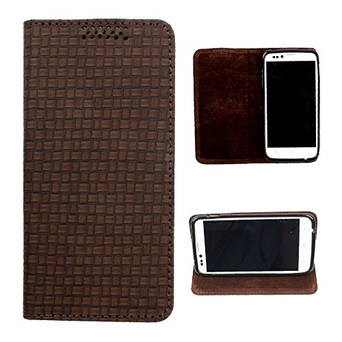 DooDa PU Leather Flip Case Cover For Lenovo A369i (Brown)